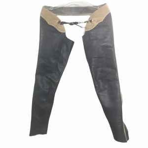 On Course Blue/Tan Leather Full Chaps